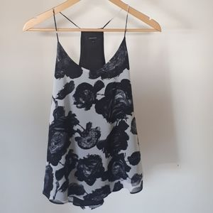 RW & CO Flowy Floral black and white Tank - S